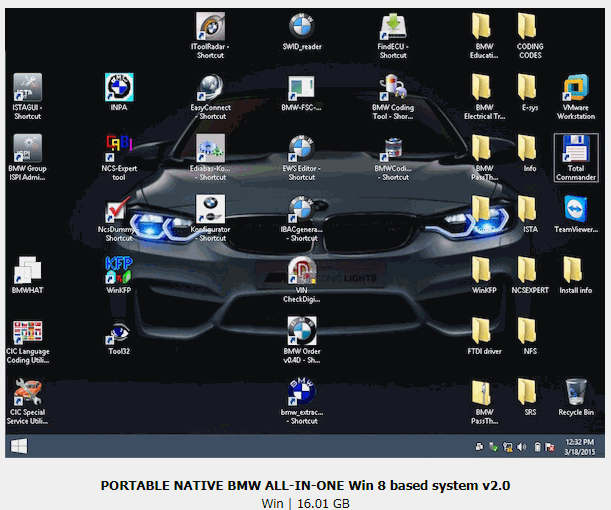 PORTABLE NATIVE BMW ALL-IN-ONE Win 8 based system v2 0